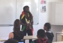 Clarisse AGBEGNENOU par les élèves de la classe de 4ème 2