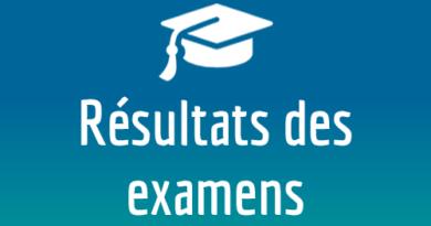 Résultats examens